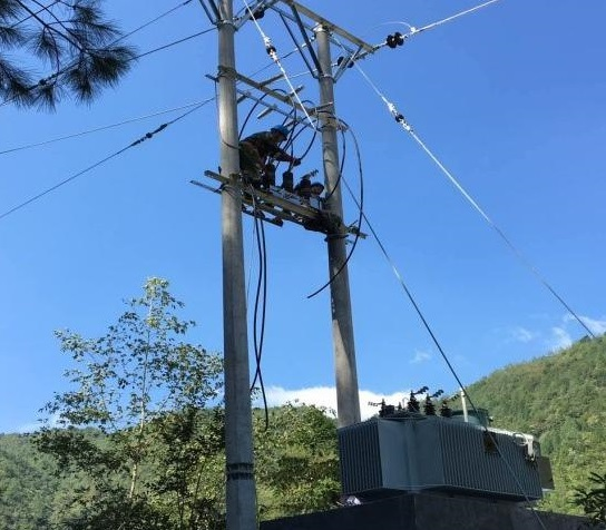 China Wilayah Zhejiang Lishui City 11 KV Line